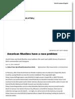 American Muslims Have a Race Problem _ Al Jazeera America