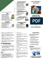 166851134 Folleto Plan de Emergencia y de Evacuacion