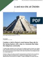 Mayan Maths and Eco-chic 1