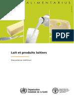 Codex Alimentarius Laits Et Produits Laitiers 2ème Ed