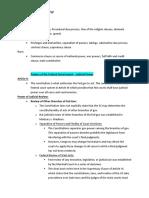 Constitutional Law-LA Bar Exam Outline