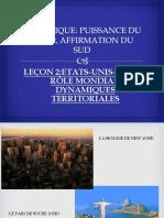 ETATS UNIS BRESIL:ROLE MONDIAL,DYNAMIQUES TERRITORIALES
