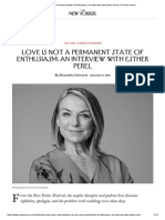 Interview Esther Perel - New Yorker