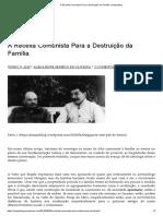 A Receita Comunista Para a Destruição Da Família