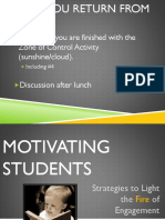 motivating students - strategies to light the fire of engagement