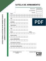 MANUAL DE PROCEDIMENTO 002 - POSTO AVANÇADO - Modelo de Formulário de Cautela de Armamento - Anexo II.pdf