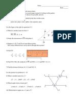 geometry - fall practice exam 2018
