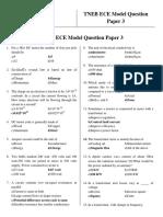 TNEB ECE Model Question Paper 3