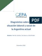Diagnóstico sobre situación laboral y social en Argentina - CEPA