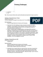 Sample Design Thinking Challenges.docx