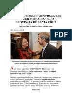 Sin Discursos, Ni Mentiras, Los Números Reales de La Provincia de Santa Cruz_2018