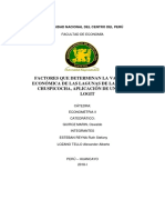 Factores Que Inciden en La Valorizacion de Las Lagunas Lazo Huntay y Chuspicocha