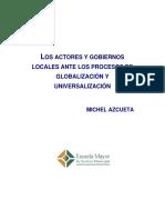 Actores y Gobiernos Locales Ante Los Procesos de Globalizacion y Universalizacion 2012