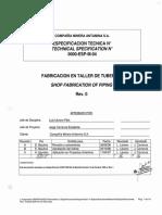 0000-Esp-m-04 Rev0 _ Fabricacion en Taller de Tuberias