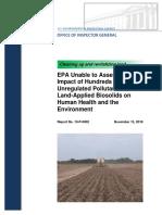 EPA Inspector General finds 350+ unregulated pollutants in land-applied biosolids