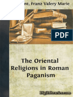 The oriental religios in roman paganism