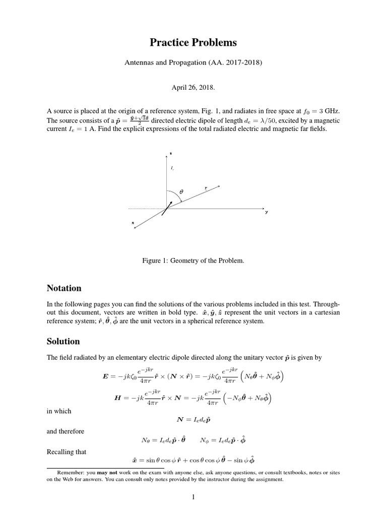 Practice 27-4-2018 TiltedDipole | Dipole | Theoretical Physics