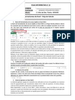 Excel Barra de Herramientas