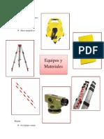 Equipos y Materiales - Topografia