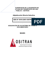 Sistema de Tramite Documentario 2007 Ositran Bases