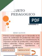 sujeto pedagogico