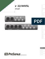 Presonus AudioBox 22/44 VSL Manual