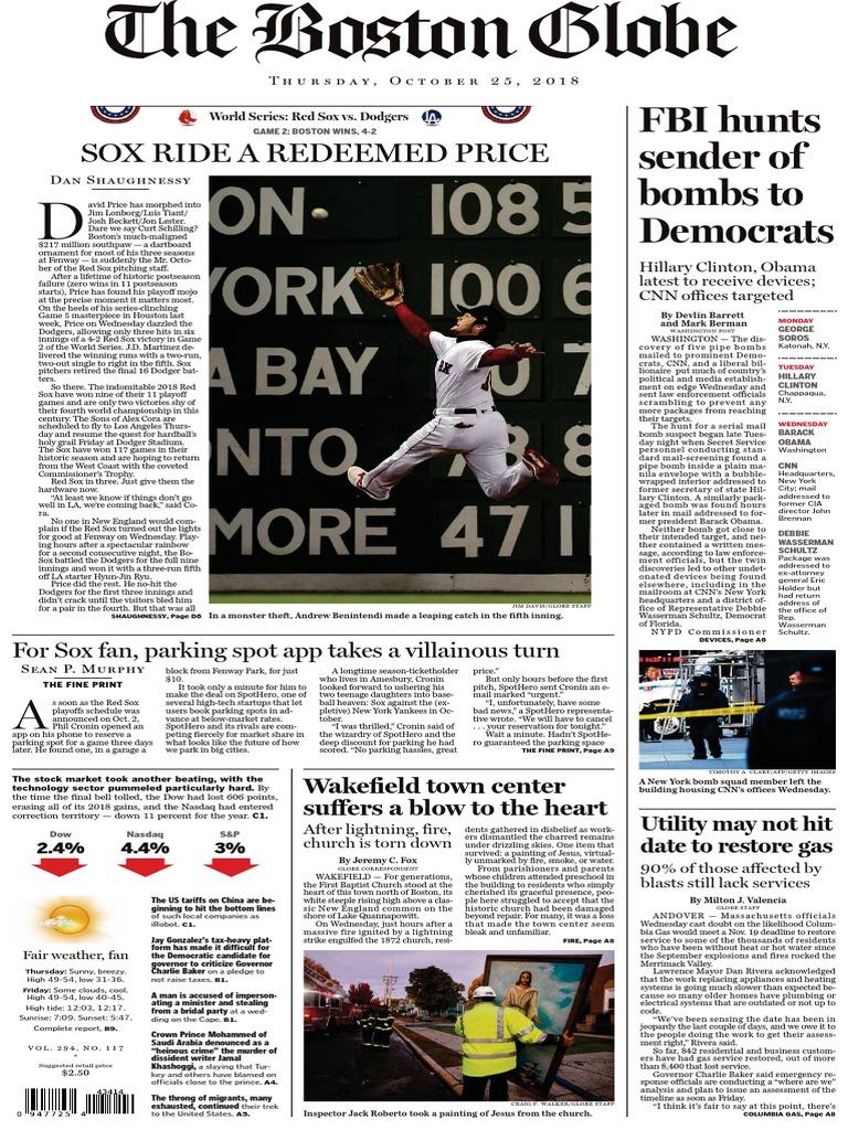 5667af93 The+Boston+Globe20181025   Boston Red Sox (10 views)