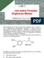 Exercícios Sobre Funções Orgânicas Mistas
