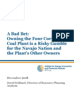 Owning Four Corners Coal Plant is a Losing Bet December 2018