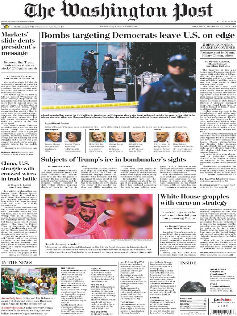 The+Washington+Post20181025 | Donald Trump | United States