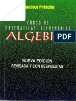 Francisco Proschle - Curso de Matemáticas Elementales; Álgebra