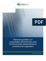National Guideline on Sustainable Development and Environmental Stewardship for Professional Engineers