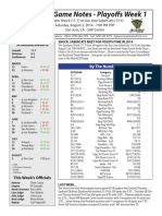 Spokane Game Notes Playoffs Week 1 - San Jose