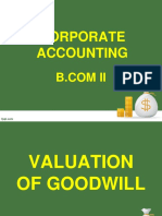 Valuation of Goodwill (1)