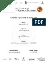 U5 - Aplicaciones de La Derivada - Trabajo Integrador