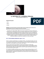 La Historia de La Moneda Peruana