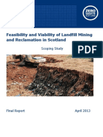 landfill mining and reclamation in scotland