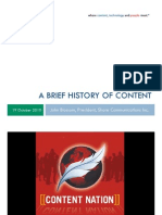 A Brief History of Content - SmartContent 2010 Presentation