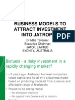 Business Models to Attract Investment Into Jatropha