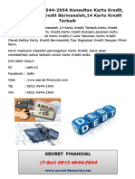 (T-Sel) 0812-4544-2954 Konsultan Kartu Kredit, Penanganan Kredit Bermasalah,14 Kartu Kredit Terbaik