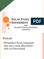 Solar Panel Experiment