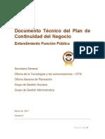 Documento Técnico Plan de Continuidad Del Negocio