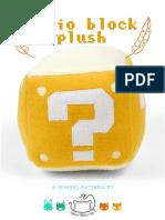 Mario Block Plush Sewing Pattern