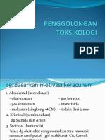 Kul 2. Penggolongan Toksikologi