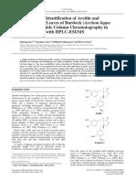 LiuS.chenK.schliemannW.strackD.isolationandidentificationofarctiinandarctigenininleavesofburdockArctiumlappaL.bypolyamidecolumnchromatography...