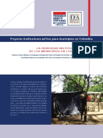 La debilidad Institucional de los Municipios de COlombia