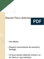 Examen Físico abdomen
