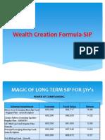 Wealth Creation Formula-SIP
