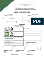 2. Acta de Escrutinio 2018