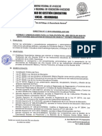 Directiva para finalizar el año académico 2018 - ugel huamanga